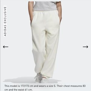 Adidas exclusive CUFFED PANTS Off White